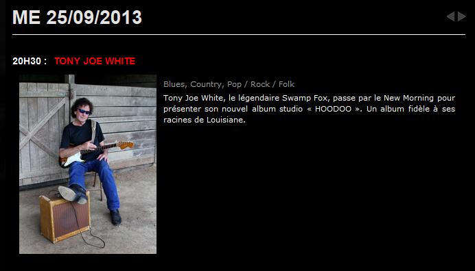 Tony Joe White - New morning - 25 sept 2013